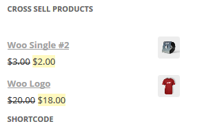 Front view of the Cross Sell Products Display For Woocommerce plugin