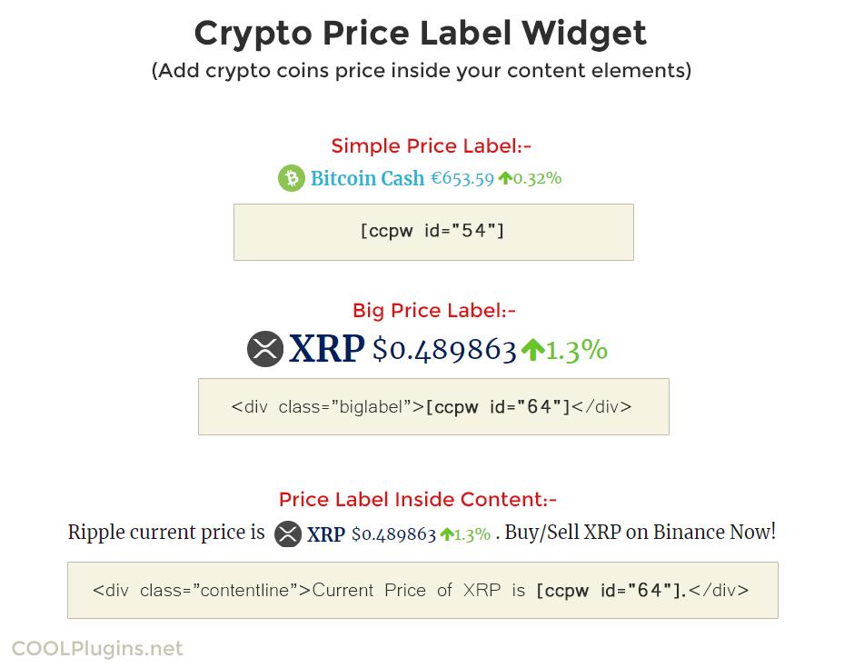 Cryptocurrency Widgets Pro WordPress Crypto Plugin