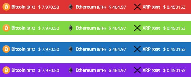Table Custom Colors