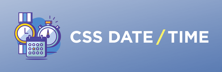 CSS Date Time
