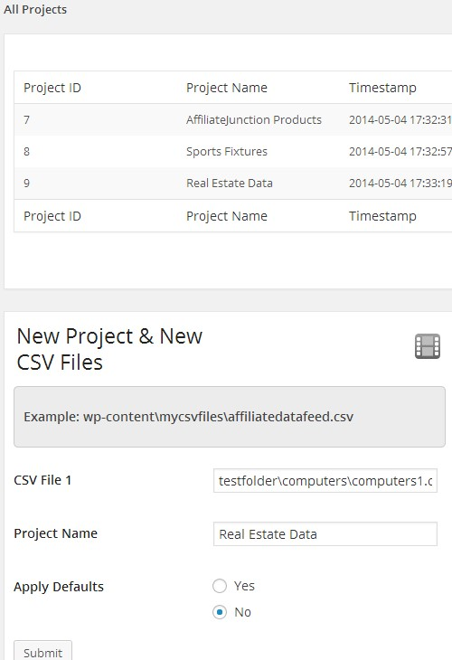 csv-2-post screenshot 1