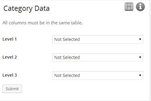 Category Data Selection.