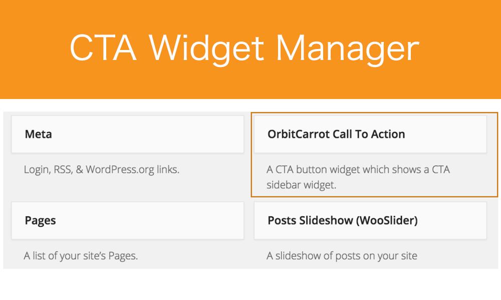 Back-end: OrbitCarrot CTA Widget option.
