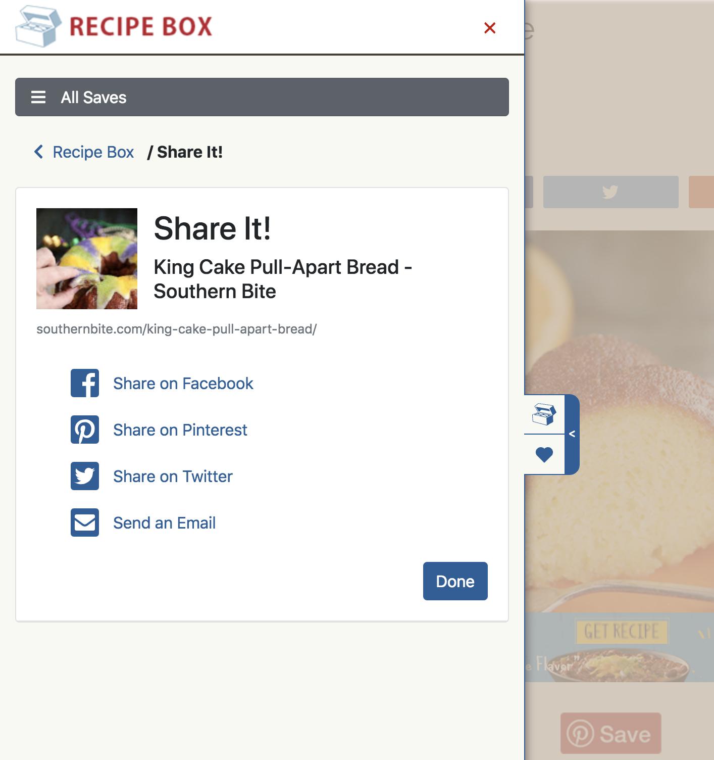 Organize recipes into custom folders.