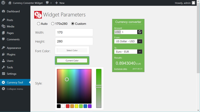 Currency Converter Widget – WordPress plugin | WordPress org