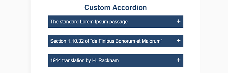 Custom Accordion Block