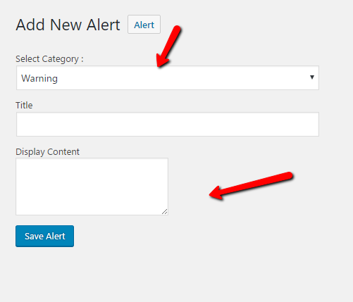 <strong>Create custom alert also editing</strong> view .