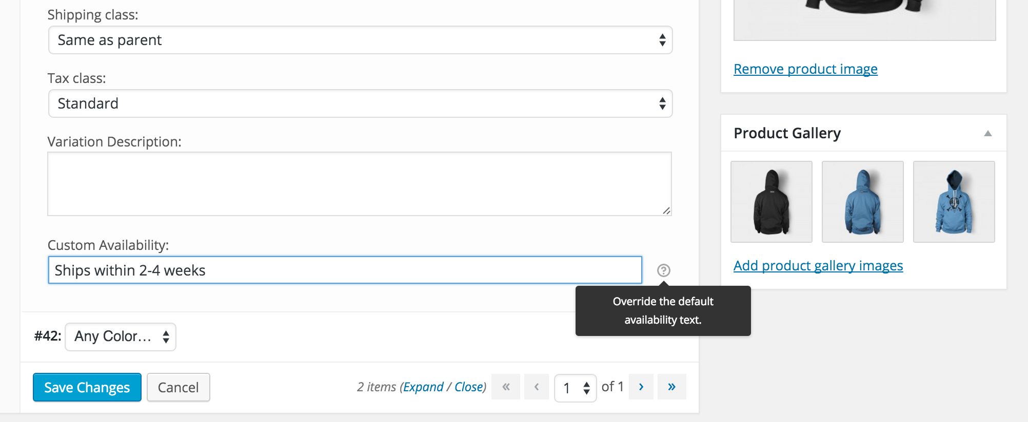 WooCommerce Custom Availability