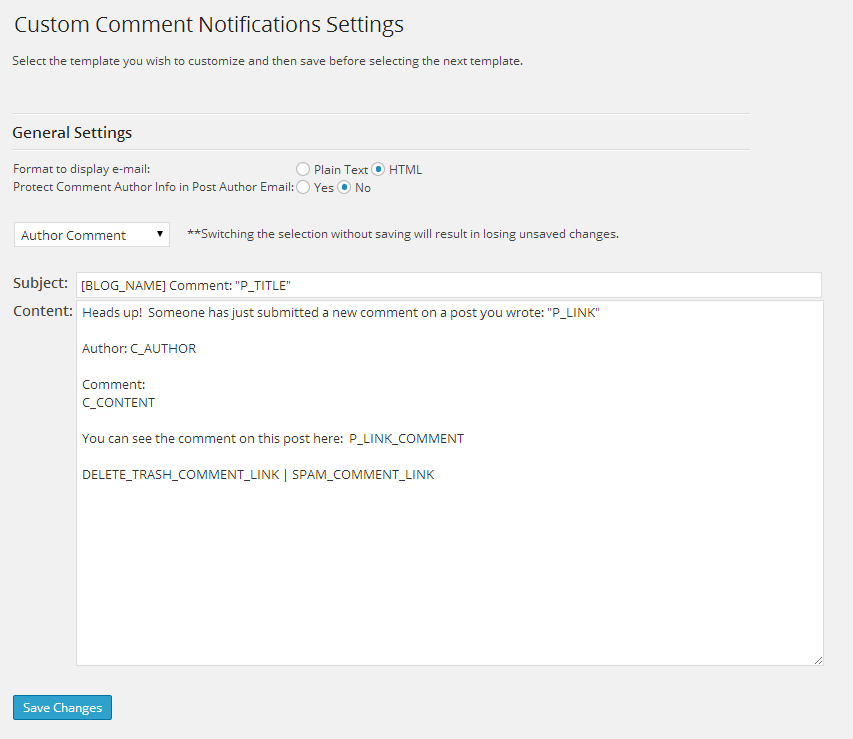 custom-comment-notifications screenshot 1