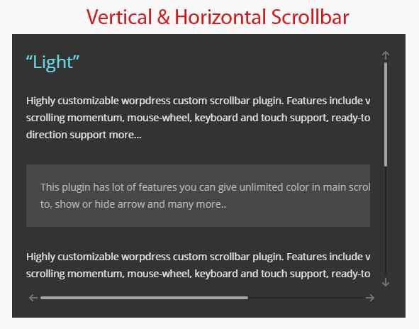 Vertical & horizontal scrollbar demo