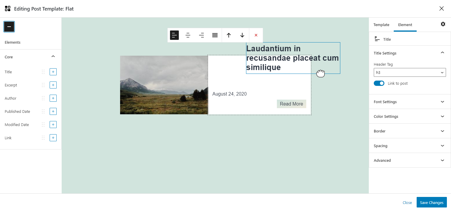 Custom Layouts – for Posts, Products and CPTs