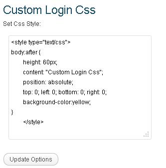 Custom Login Css.