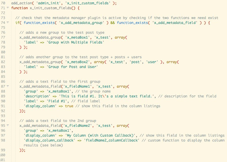 Write easy, intuitive and WordPress-like code to add new fields.