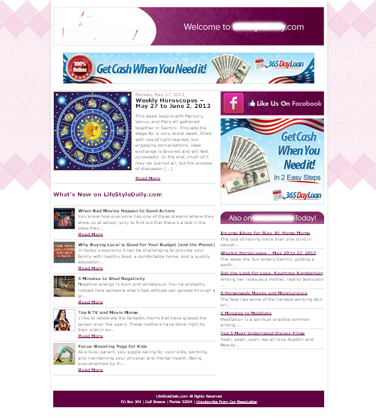 Custom Newsletter Template WordPressorg - Custom newsletter template
