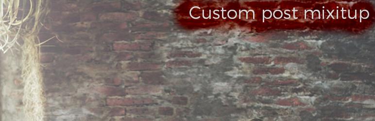 Custom post mixItup