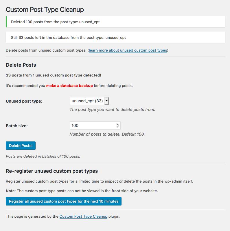 使用していないカスタム投稿タイプのデータを削除できるプラグイン「Custom Post Type Cleanup」|Knowledge Base