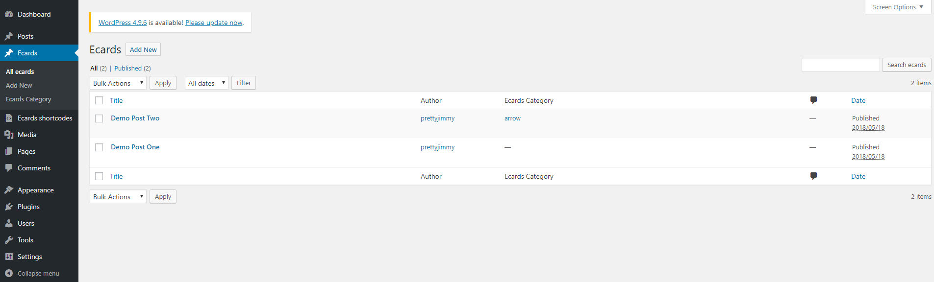 Creating Custom Post Types