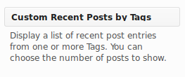 Custom Recent Posts by Tags Widget