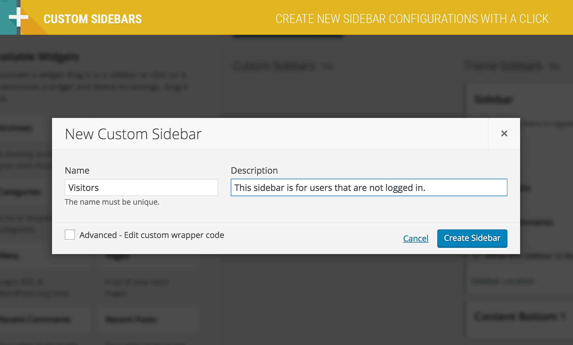 custom-sidebars screenshot 3