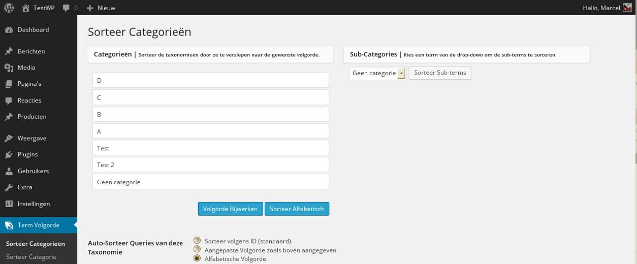 Custom Taxonomy Order – WordPress plugin | WordPress org