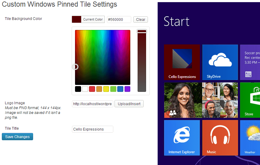 custom-windows-pinned-tiles screenshot 1
