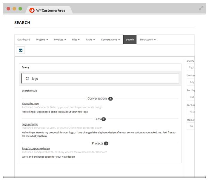 WP Customer Area WordPress Plugins – New Customer Information Form Template