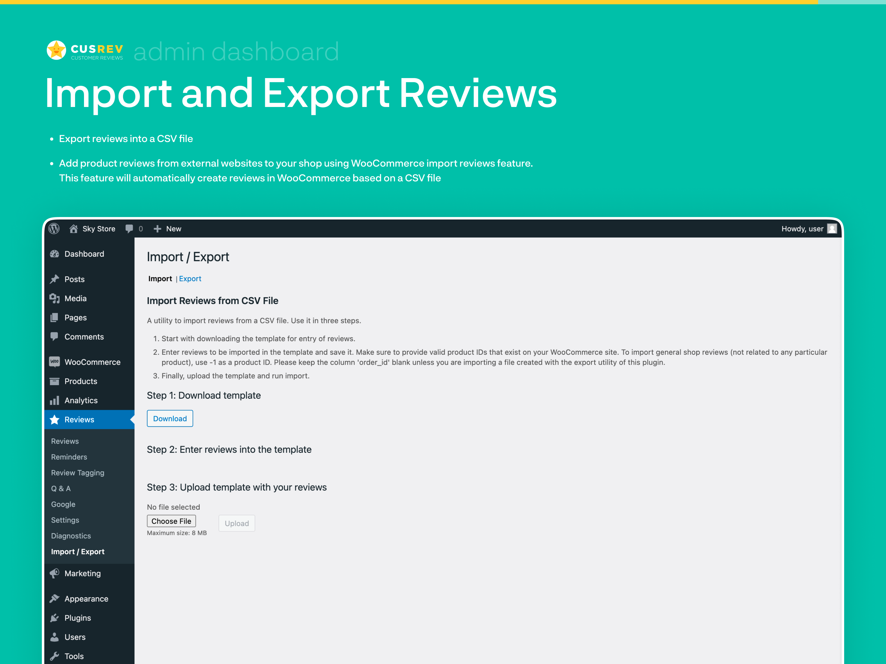 Import and Export Reviews