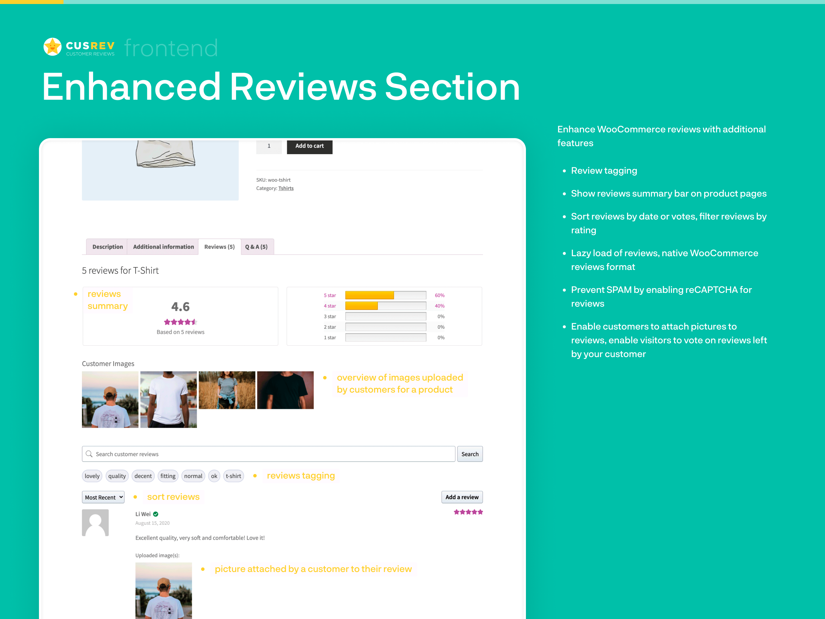 Enhanced Reviews Section