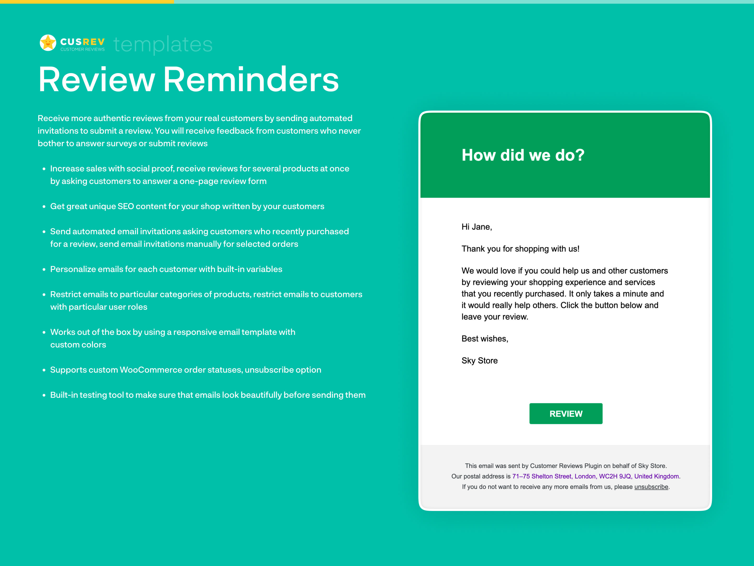 Review Reminders