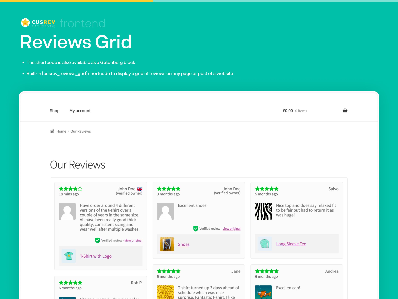 Reviews Grid