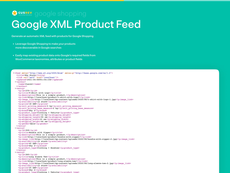 Google Shopping XML Product Feed