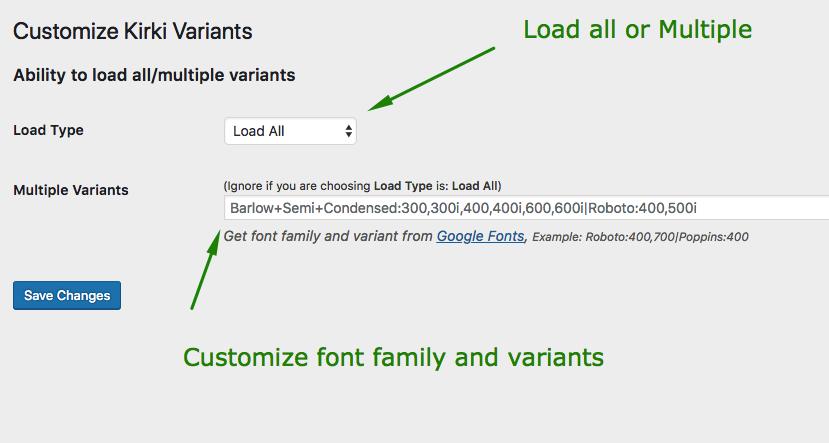 Customize Kirki Variants – WordPress plugin   WordPress org