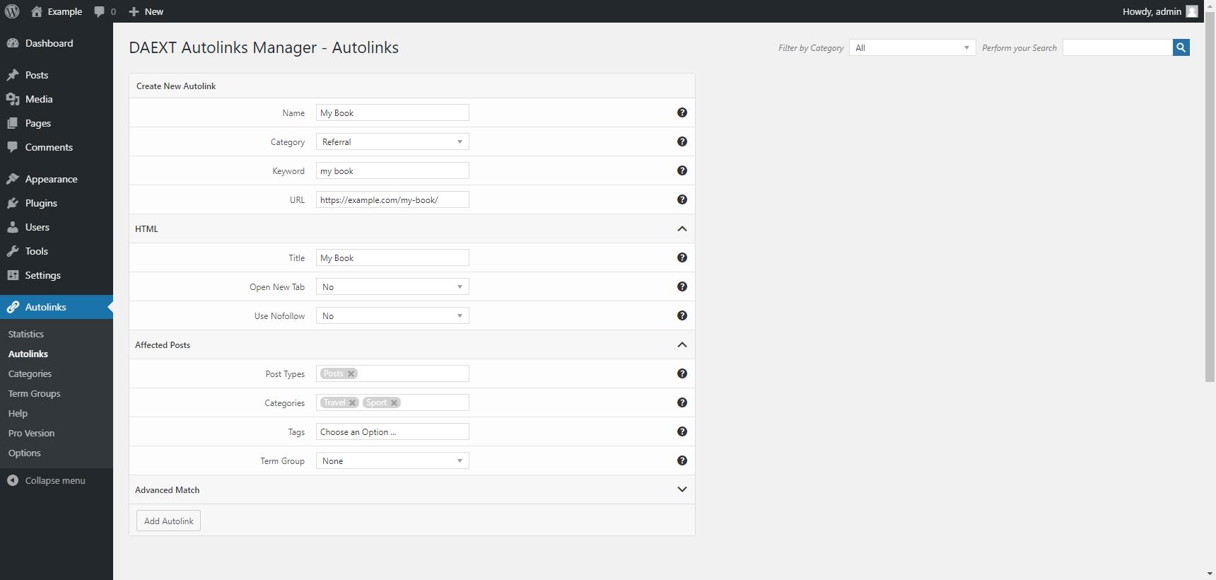Autolinks Manager – WordPress plugin | WordPress.org