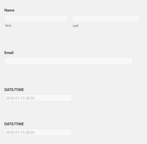 Date/Time Fields for Gravity Forms – WordPress plugin