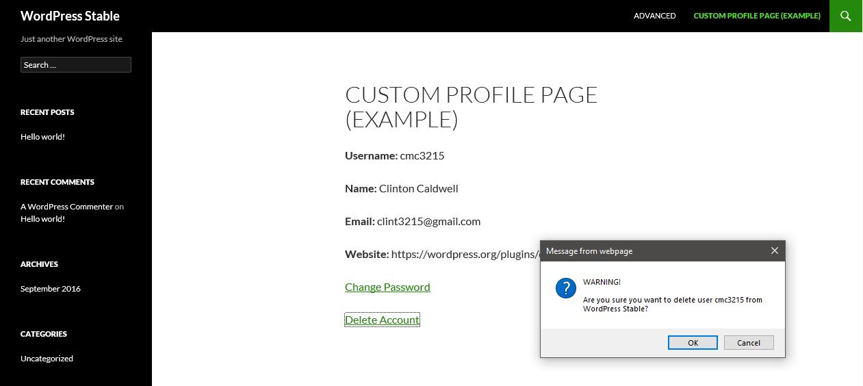 Delete Me – WordPress plugin | WordPress org