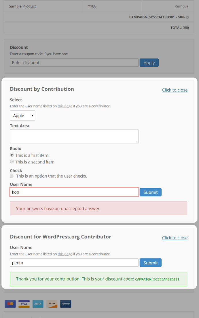 Answer Fields in Checkout