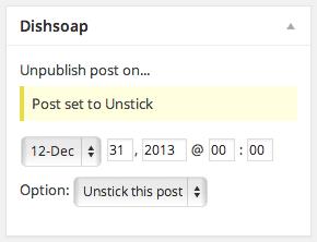 Screenshot of an unstuck post