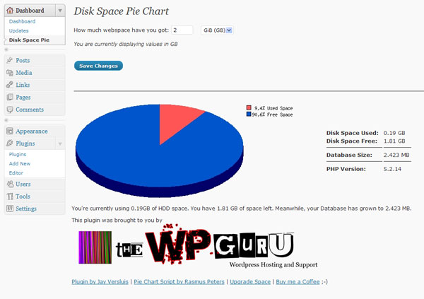 disk-space-pie-chart screenshot 2