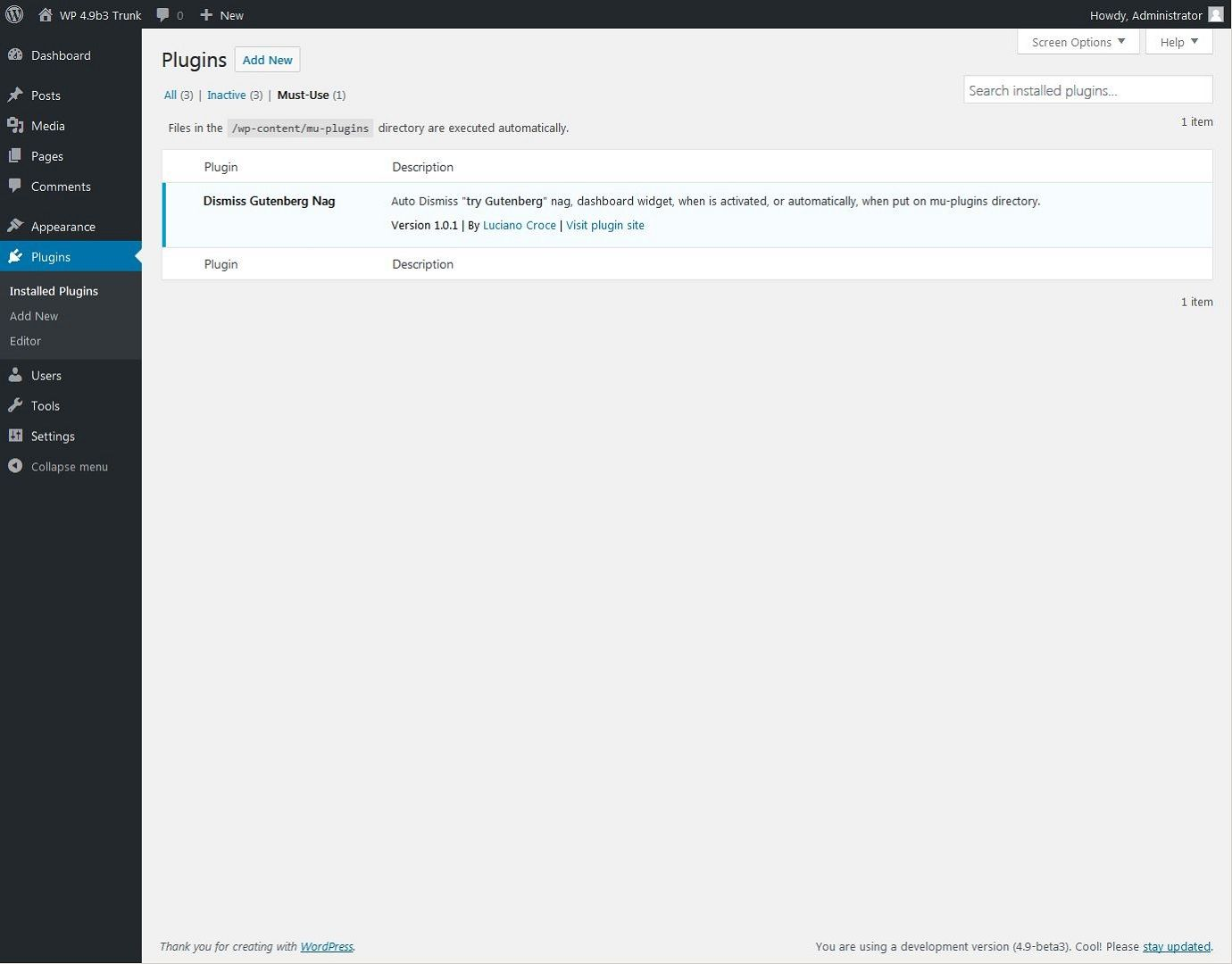 As mu-plugins Enabled - Screenshot 5 of 6