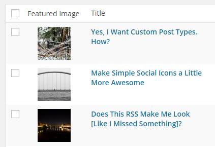 Optionally, set featured images for custom content types, or change plugin behavior for custom content types.