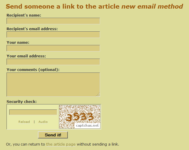The <em>Send-A-Link</em> form