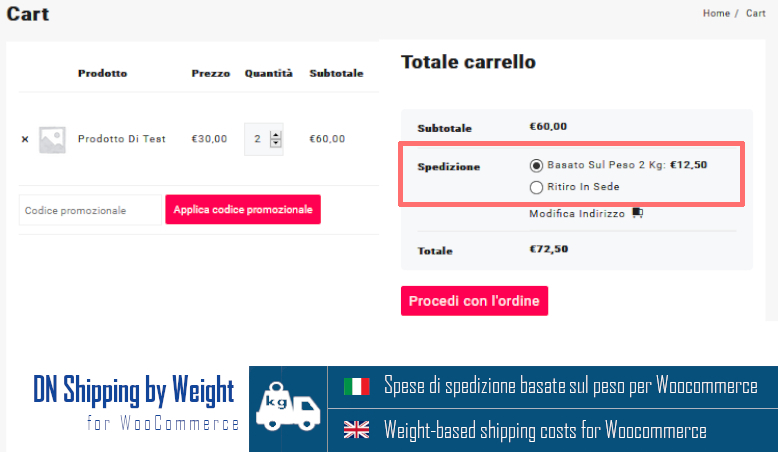 DN Shipping by Weight for WooCommerce