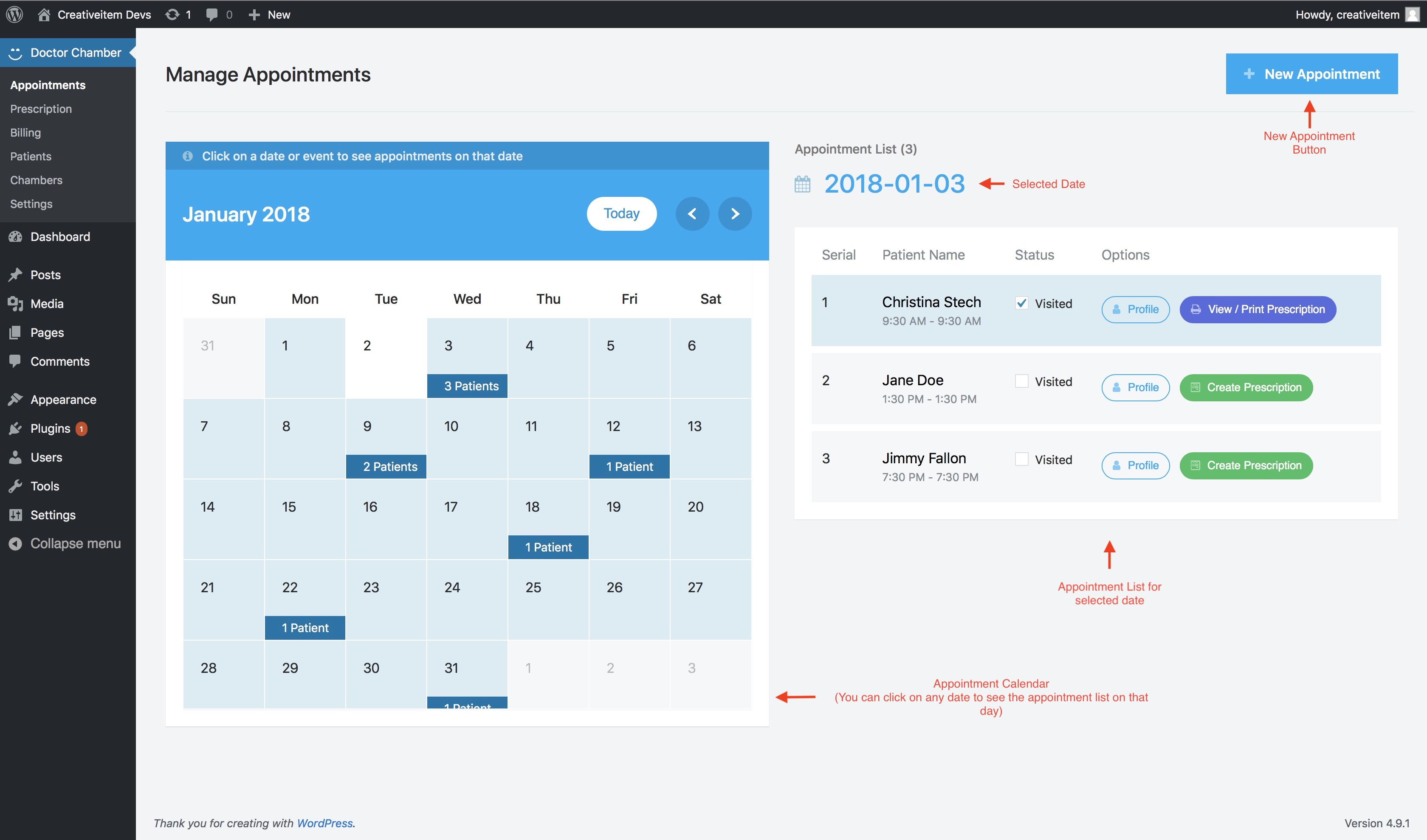 doctor appointment booking | wordpress