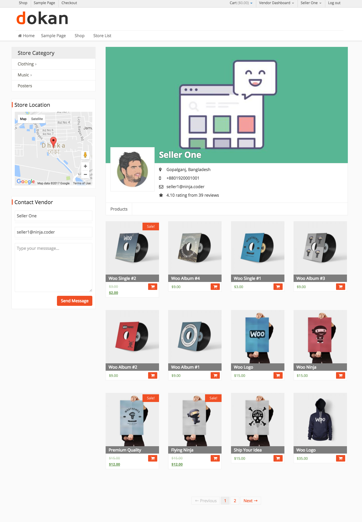 Frontend → Individual Seller Store-1