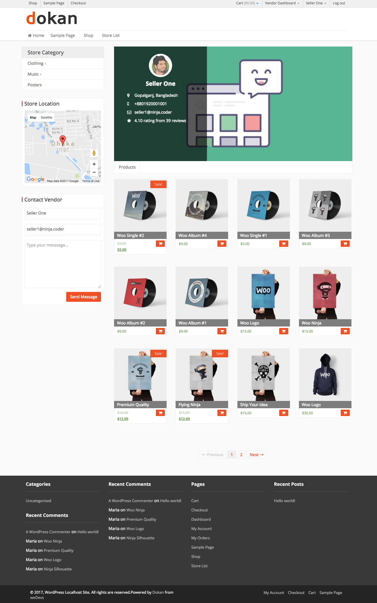 Frontend → Individual Seller Store-2