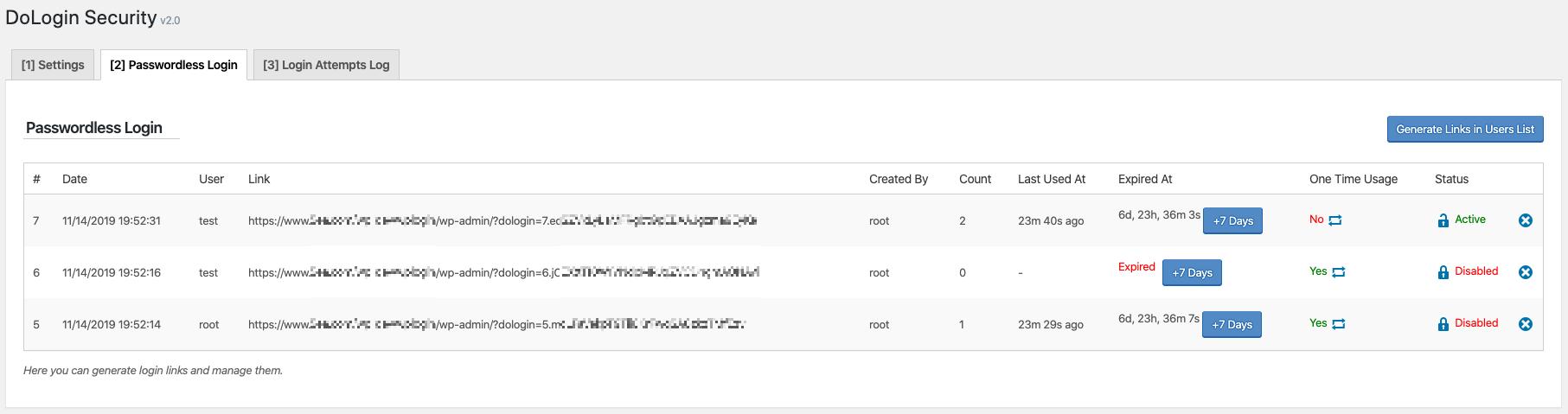 Plugin Passwordless Login