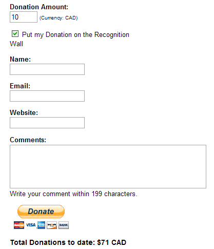 Example of Donation Form
