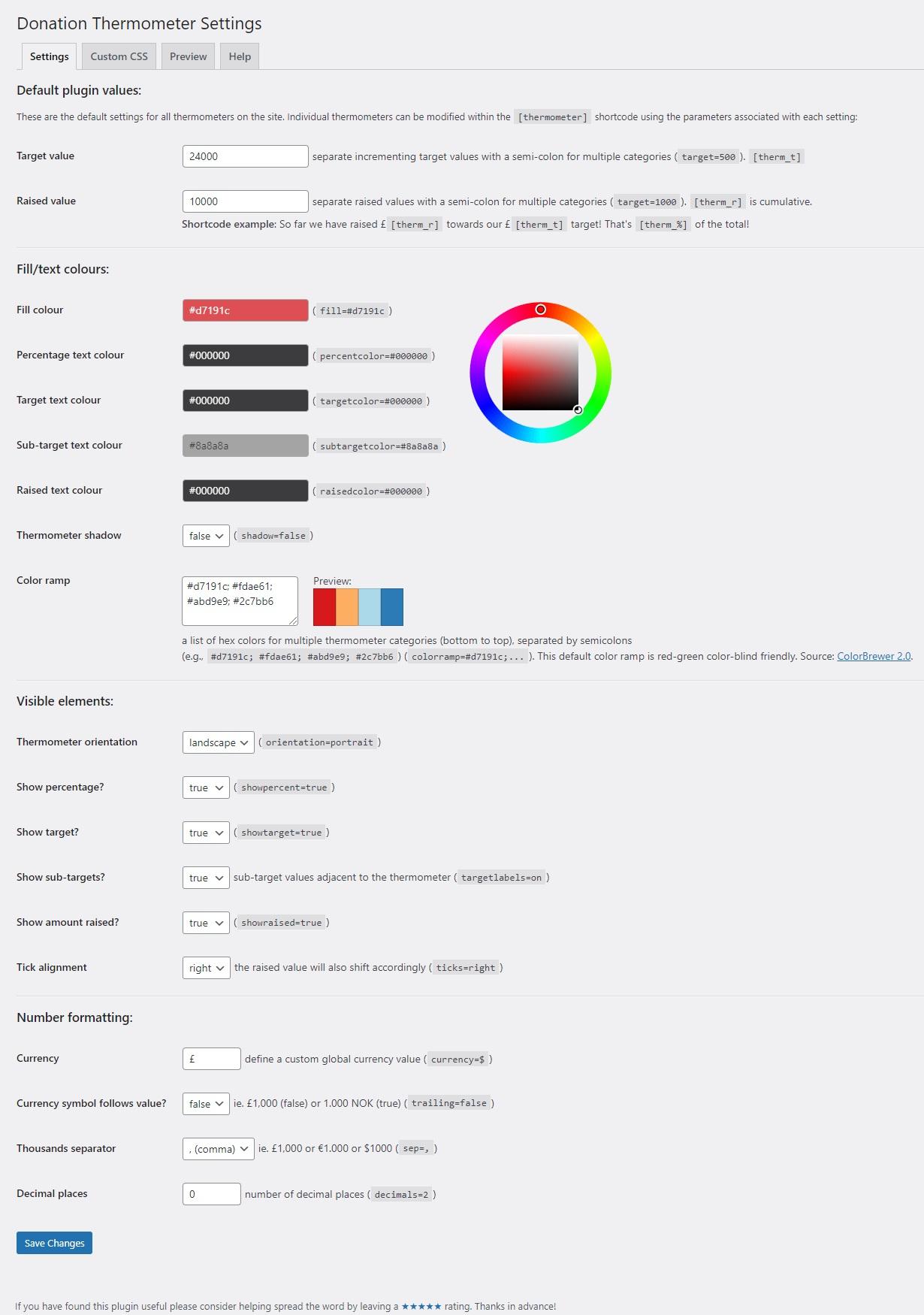 Donation Thermometer — WordPress Plugins