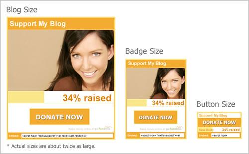 Donation Widget Sizes