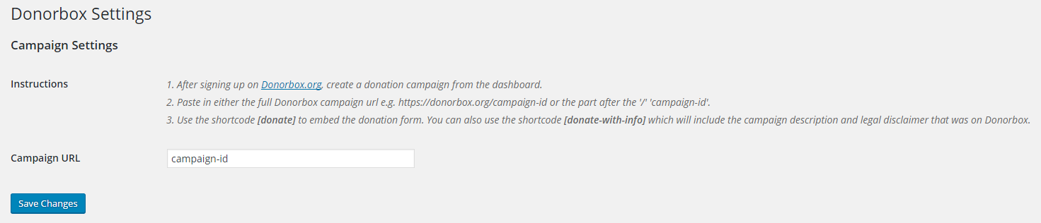 donorbox free recurring donation form wordpress org